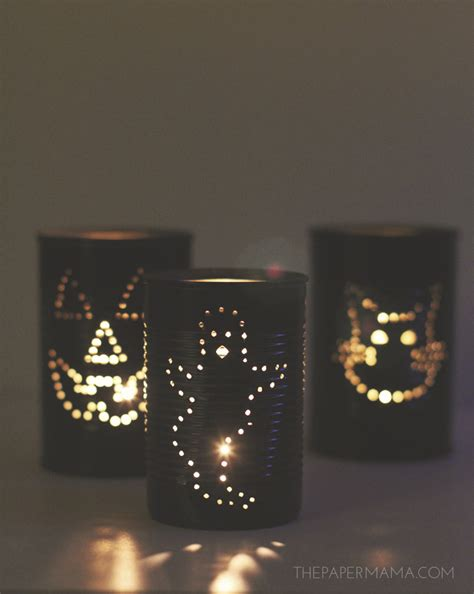 Diy Lantern Lights Spooky Tin Can Lantern Diy