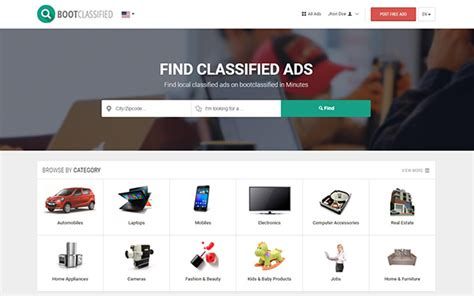 Bootclassified Classified Theme E Commerce Wrapbootstrap Bootstrap Themes Templates Classified Website Template