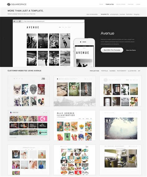 Try On A New Website In The New Year With Squarespace Design Milk How To Use Squarespace Templates