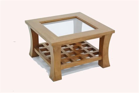 Table Basse Verre Bois by Table Basse Bois Carr 233 E Avec Plateau En Verre Jorg 5393
