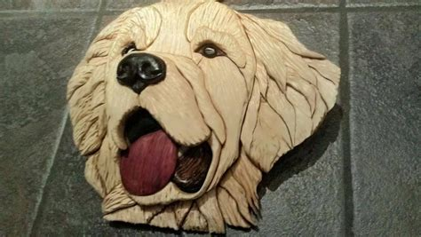 wood intarsia dog portraits  sumtertius  lumberjocks