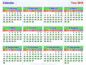 Calendar 2018 Thailand Kalender2018 Horizontal Und Vertikal