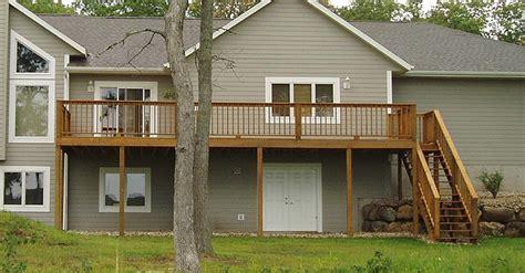 two story deck wood decks two story wood decks