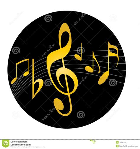 logo de logo de musique images stock image 13731704