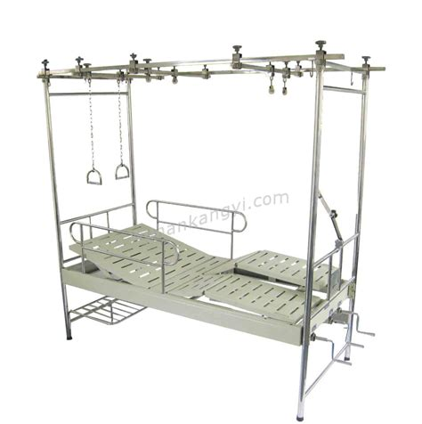 traction bed china stainless steel orthopedic traction hospital bed with three revolving levers