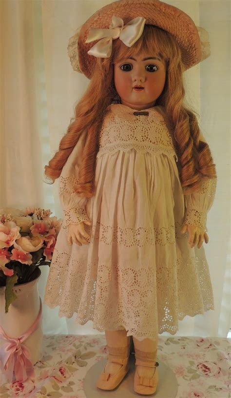 Medium Doll 8 29 quot handwerck dep 109 antique german bisque doll human hair wig an