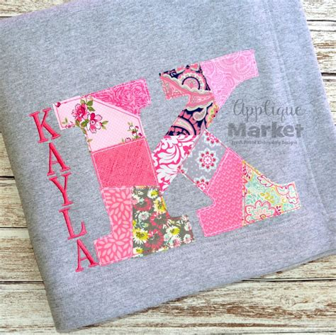 Patchwork Applique - patchwork serif applique alphabet
