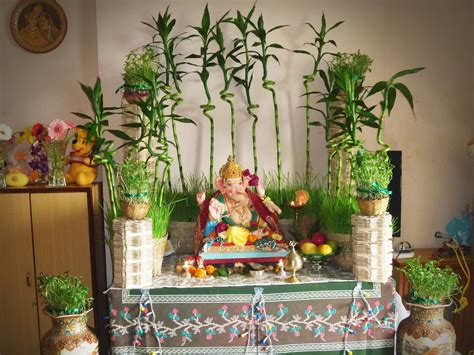ganesh chaturthi decoration ideas  home