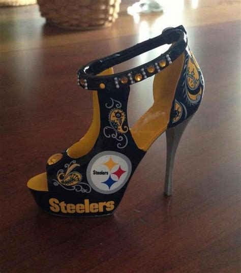 pittsburgh steelers glitter high heels by chelsiedeydesigns