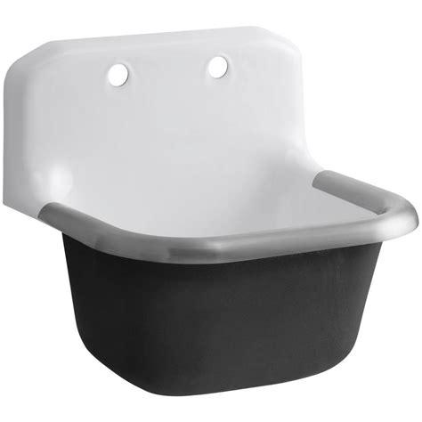 Service Sinks by Kohler Bannon 24 In X 20 1 4 In X 13 In Cast Iron