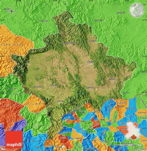 maps kosovo satellite satellite map of kosovo political outside