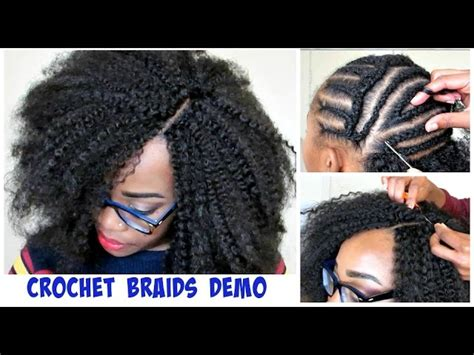 how to cover part with marley brai hair watch me do crochet braids invisible part m