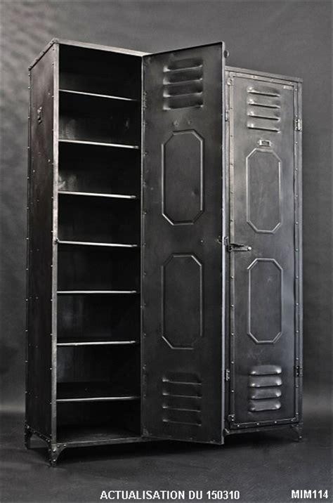 armoire métal pas cher armoire vestiaire metallique design