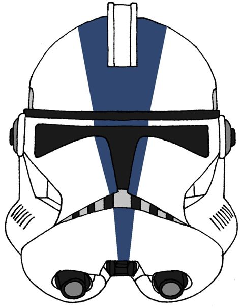 How To Make A Clone Trooper Helmet Out Of Paper - clone trooper helmet 501st legion 3 by historymaker1986 on