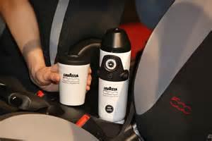 Fiat Maker Fiat 500l To World S In Car Coffee Machine