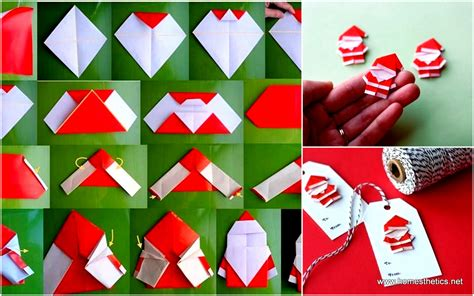 Origami Presents - create extremely cheerful diy origami santa claus for your