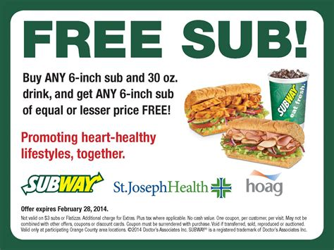 printable subway coupons subway online discounts printable coupons online