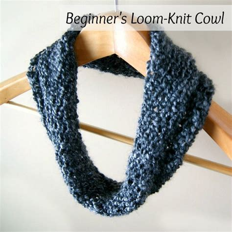 yarn forward knit cowl simple beginner s loom knit tutorial loom knitting