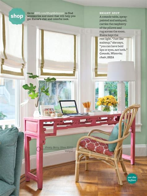 bay window desk love this slender desk in the bay window the colors in