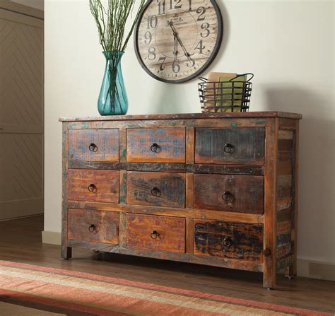 accent cabinet with shelves reclaimed wood 9 drawer accent cabinet buffets and