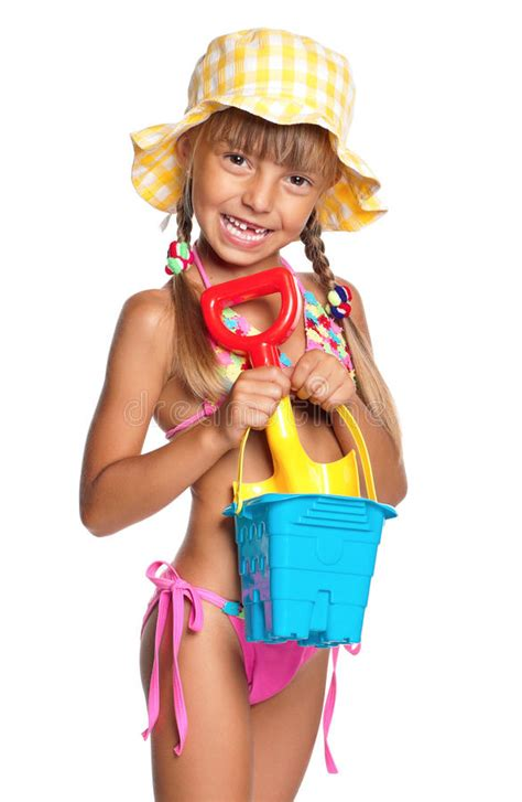 bambina in costume da bagno bambina in costume da bagno fotografia stock immagine di