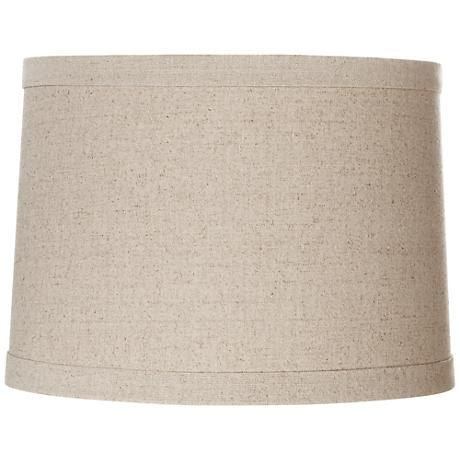 natural linen drum l shade springcrest natural linen drum shade 13x14x10 spider