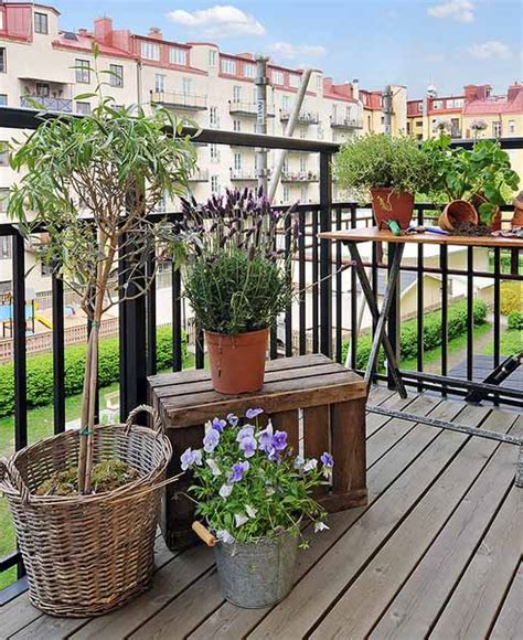 Apartment Deck Plants Decorating Your Apartment Balcony