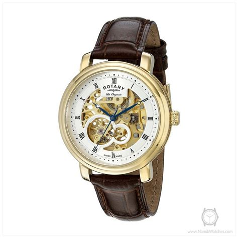 Rotary Gs90506 06 rotary s gs90506 06 analog display swiss automatic brown rotary watches