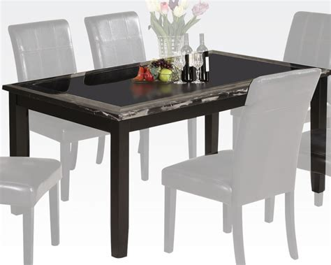 acme marble dining table acme faux marble dining table blythe ac71060