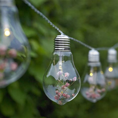 flower light string glass bulb and flower string lights by garden selections