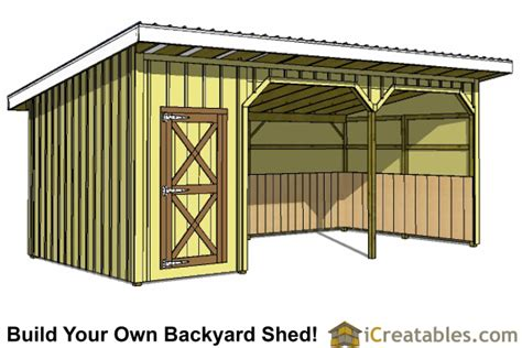 How To Build A Run In Shed For Horses by Run In Shed Plans Building Your Own Barn Icreatables