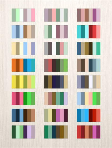 complementary paint colors 24 complementary color palettes this free download pack