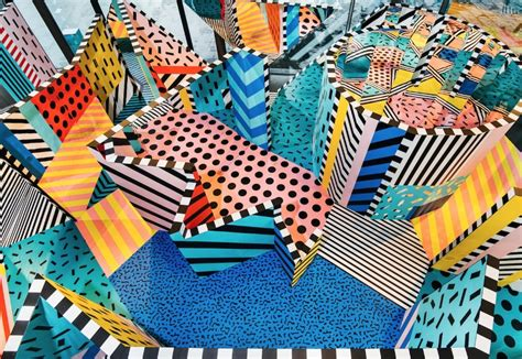 painting play now now camille walala builds a labyrinth of shapes