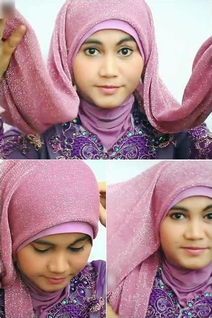 tutorial jilbab untuk kebaya tutorial hijab gliter dengan kebaya tutorial hijab