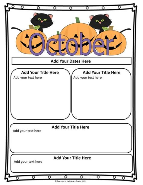 october preschool newsletter template newsletter templates the o jays and parents on