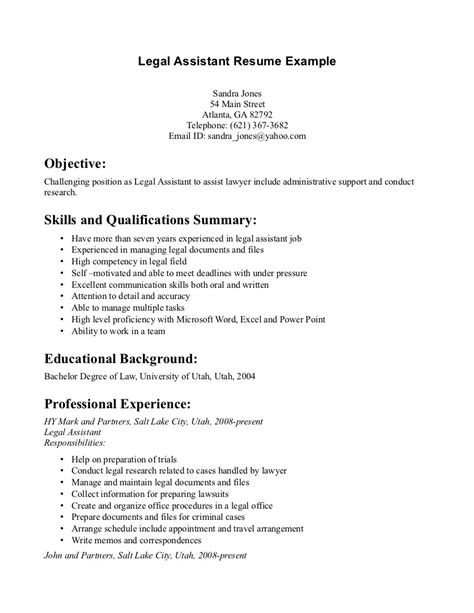 sle resume for assistant paralegal resume template best design tips myperfectresume with