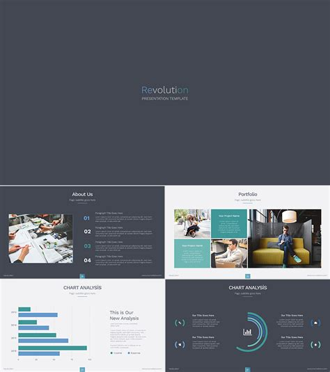layout of a presentation for powerpoint revolution ppt template design for education etc
