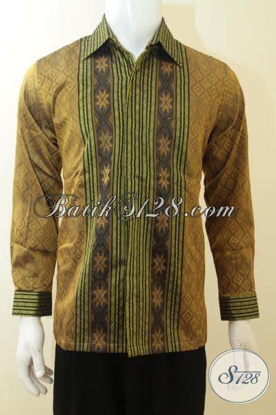 Kemeja Pria Kemeja Formal Kemeja Tenun Baron Size L 1 baju tenun istimewa hem tenun bagus buatan jepara pakaian tenun elegan cocok untuk acara