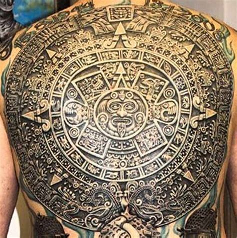 Aztec Calendar Tattoos Post Tattoos That Are Connected To America