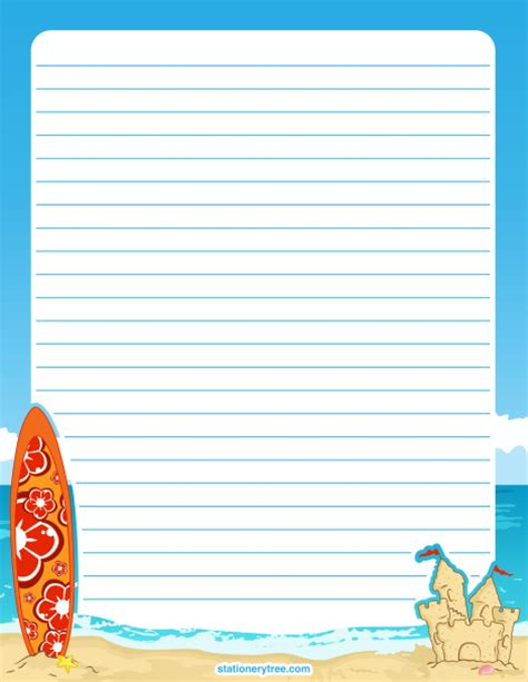 water writing paper printable stationery