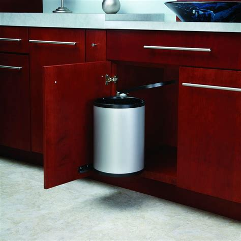 sink garbage can track rev a shelf 15 75 in h x 11 in w x 10 5 in d 14 liter