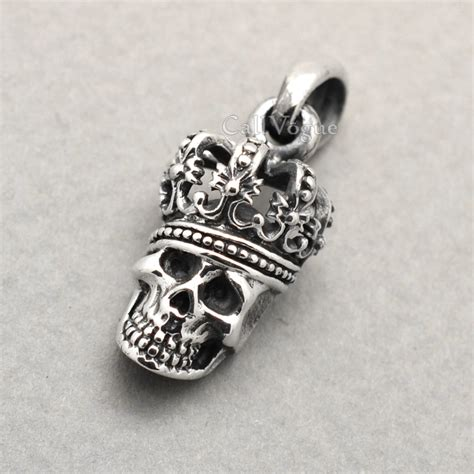 unique charms for jewelry 925 sterling silver king skull pendant callvogue