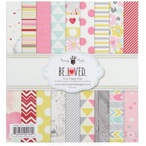 Craft Paper Pads - fancy be loved 6x6 paper pad i this collection