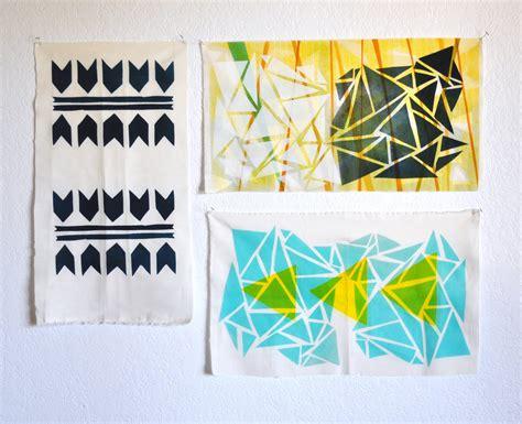 Handmade Prints - diy print your own fabric poppytalk