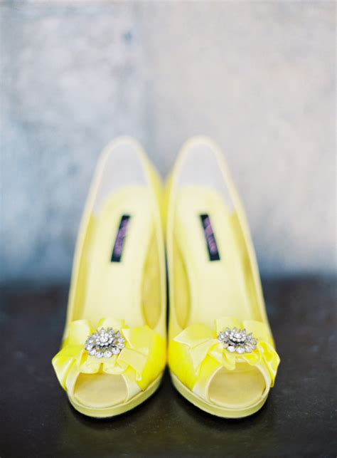 Yellow Bridal Shoes by I Wedding Dress Yellow Wedding Shoes