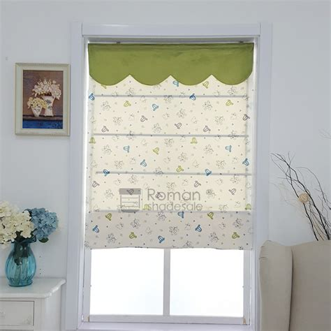 horse patterned roller blinds chic horse pattern print roman shades kids with valance