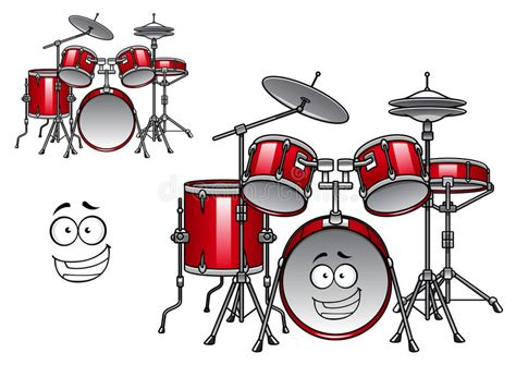 Topsoundsaudio Faces Drum Kit drum kit character stock vector illustration of bass 52678870