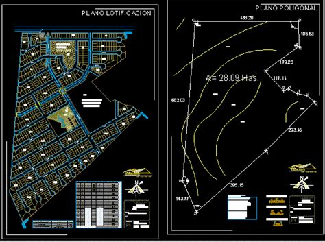 subdivision map canteritas mexico dwg block  autocad