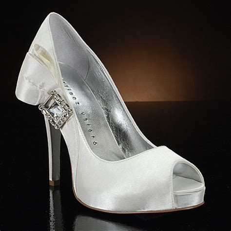 White Wedding Shoes by The Matching Pair Of White Wedding Shoes
