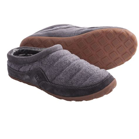 heated mens slippers columbia sportswear packed out omni heat 174 slippers for